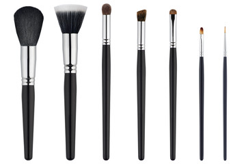 Brush for makeup on white isolated background.