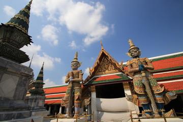 Close up porter giants gate in Wat Phra Kaew,Bangkok Thailand