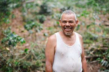 Local farmer working in coffee plantation in Nicargua