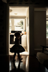 A Girl Dancing In The Morning Light