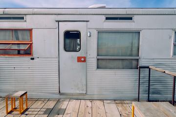 Vintage Camper in Rural West Texas