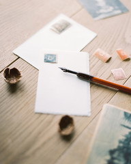 Envelopes with pen