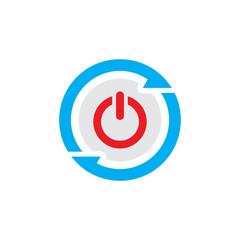 Power Sync Logo Icon Design