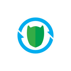 Shield Sync Logo Icon Design