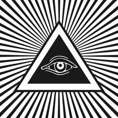 Eye of Providence. Masonic and esoteric symbol.