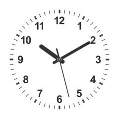 shaped clock
