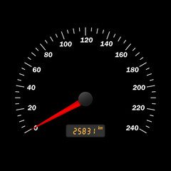 Car speedometer interface