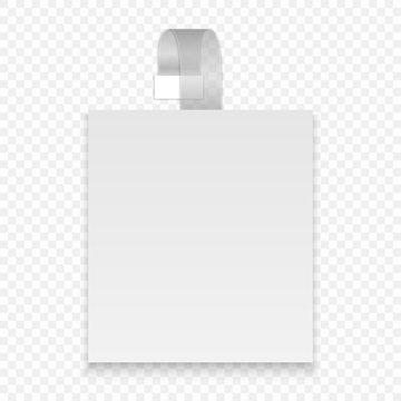 Vector blank round wobbler with transparent strip