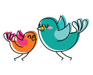 beautiful flying birds lovely animal vector illustration