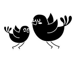 beautiful flying birds lovely animal vector illustration black and white design