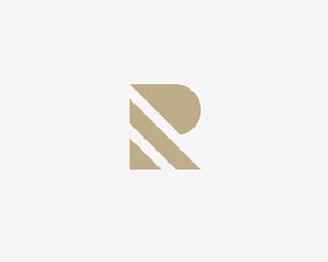 Stripes letter R vector logotype. Creative abc logo icon design.
