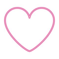 pink heart love romantic passion icon vector illustration neon design