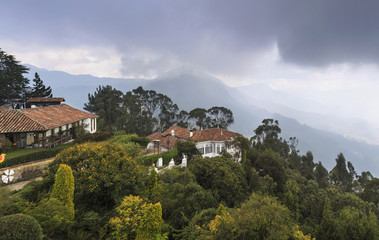 View from Mount Montserrat in Bogota.