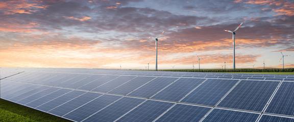 Solar und Windenergie Hintergrund