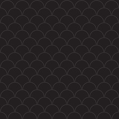 Stylish monochrome pattern from overlapping circles. Black and white seamless geometric pattern
