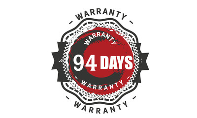 94 days warranty icon vintage rubber stamp guarantee