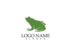 frog green symbols logo and template icons app
