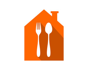 restaurant cutlery fork spoon image vector icon