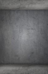 Mur en béton d'arrière-plan d'une pièce grunge urbaine
