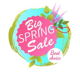 Big Spring Sale Best Advertisement Label Lavender