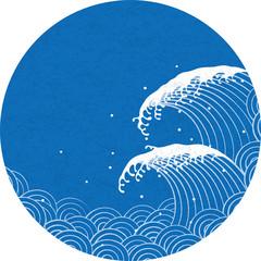 波 和風文様