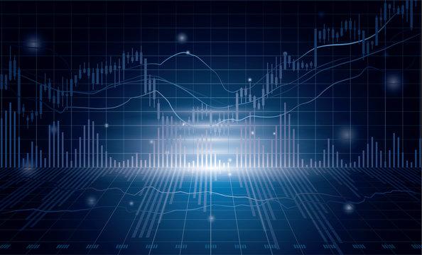 グラフ 株などの経済イメージ
