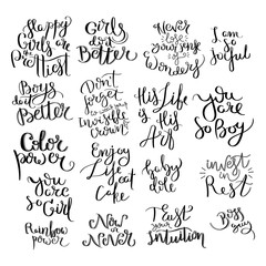 Hand written calligraphy quote motivation for life and happiness. For postcard, poster, prints, cards graphic design.