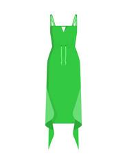 Beautiful Green Dress Pattern, Colorful Poster
