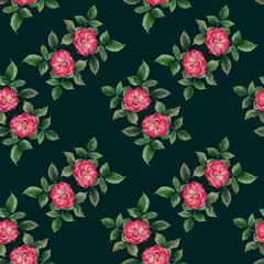 rose pattern watercolor