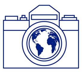 Camera and globe