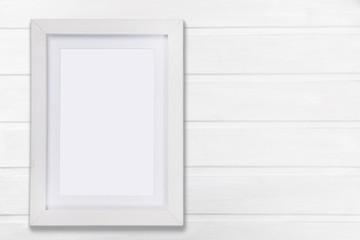 White mock up frame