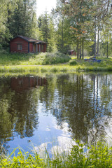 Finnish lake landscape in the summer