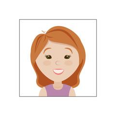 Joyful pretty little face after cosmetic procedures. Emotion of joy.