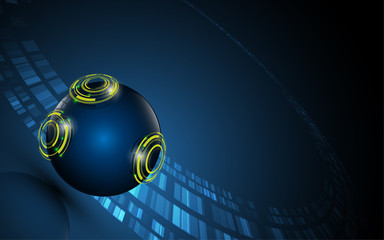 abstract tech sphere digital innovative concept background