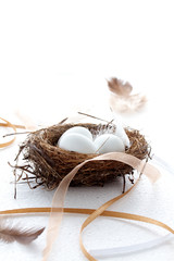 Rustic Easter Eggs in a nest