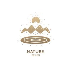 Logo mountains color