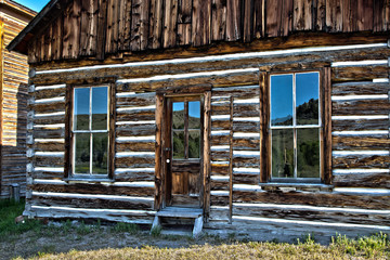 Store front in Bannack, Montana a restored abandoned mining town