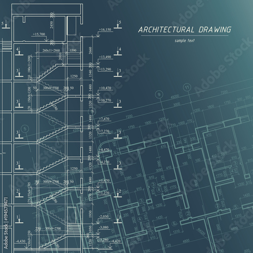 Architectural blueprint building background stock image and architectural blueprint building background malvernweather Choice Image