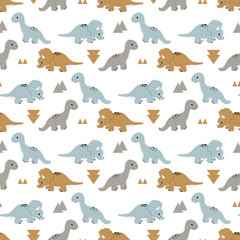 pattern with funny dinosaurs