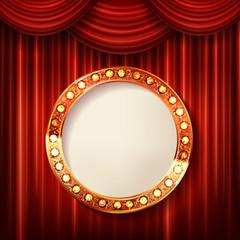 cinema golden round frame
