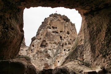 Cappadocia cave homes in Nevsehir, Turkey