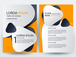 Business Brochure, Flyer Background, Cover Design,