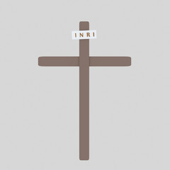 Cross Inri. Isolate. Easy background remove. Easy color change. Easy combine! For custom illustration contact me.