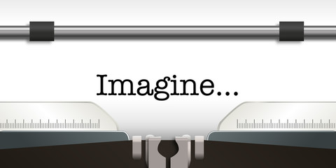 imagine - paix - mot - message - espoir - pacifisme - hymne - guerre - machine à écrire - symbole