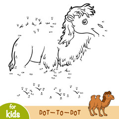 Numbers game, game for children, Two-humped camel