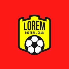 Football Club Logo Vector Template Design
