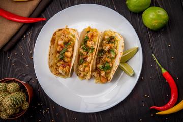 Mexican shrimp tacos
