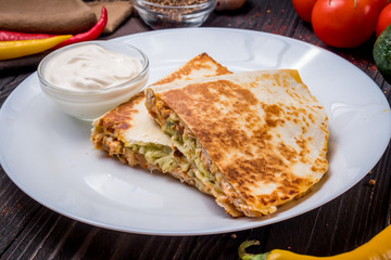 Mexican Quesadilla with chicken