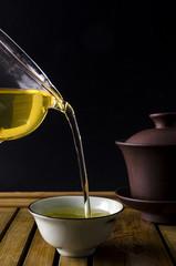 Chinese tea ceremony, pour tea