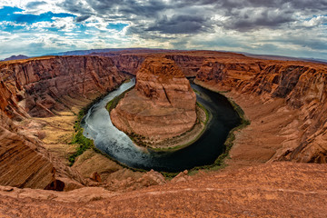 horseshoe bend page arizona view